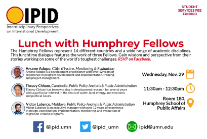 Lunch with Humphrey Fellows
