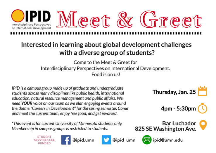 Spring 2018 IPID Meet & Greet